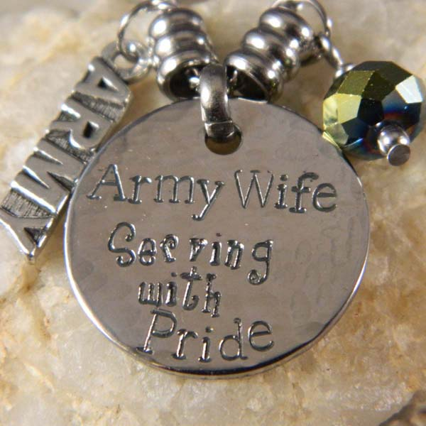 Army Wife Serving with Pride Necklace
