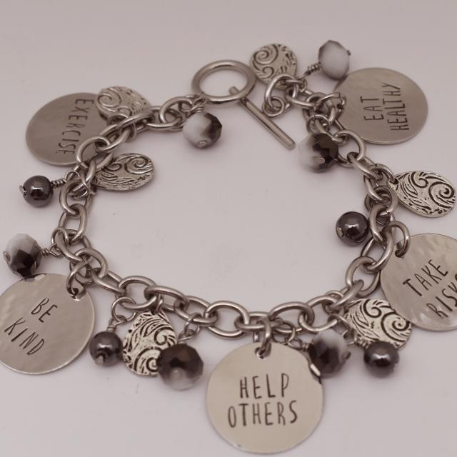 New Year Resolutions Custom Charm Bracelet